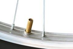 Bicycle tube valve Stock Photo