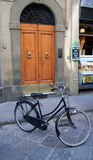 Bicycle in a tuscany street Stock Photo