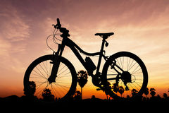 Bicycle on twilight time Royalty Free Stock Image
