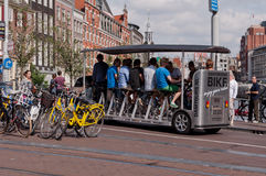 Bicycle Type Tourist Bus in Amsterdam Royalty Free Stock Photo