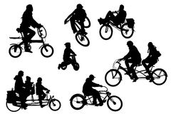 Bicycle types collection Royalty Free Stock Images