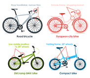 Bicycle types, set I Stock Photo