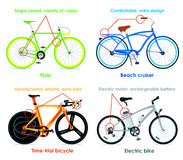 Bicycle types, set II Stock Image