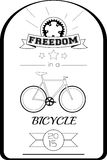 Bicycle Typographic poster Royalty Free Stock Image
