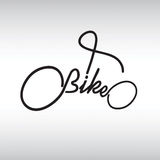 Bicycle Typography Royalty Free Stock Photography