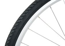 Bicycle tyre royalty free stock images