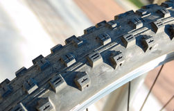 Bicycle tyre tread Stock Photo