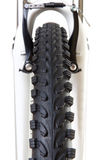 Bicycle tyre tread close-up front view Royalty Free Stock Photography