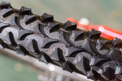 Bicycle tyre tread detail Royalty Free Stock Image