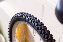Bicycle tyre tread detail Stock Photo