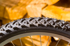 Bicycle tyre tread detail Stock Images