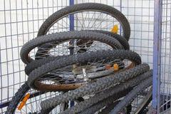 Bicycle tyres Stock Photo