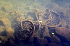 Bicycle underwater Royalty Free Stock Images