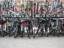 Bicycle Urban Outside Parking in Two Decks Stock Photography