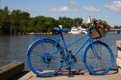 Bicycle vase Royalty Free Stock Photo