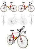 Bicycle Vector 04. Competition Bicycle Isolated Illustration Vector Royalty Free Stock Photography