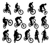 Bicycle vector. Collection of 13 bicycle vector Royalty Free Stock Photo
