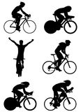 Bicycle vector. Six different bicycle silhouettes vector stock illustration