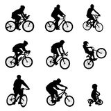 Bicycle vector. Set of bicycle silhouettes vector vector illustration