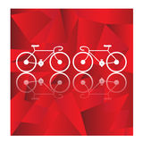 Bicycle vector on geometric background Royalty Free Stock Photo