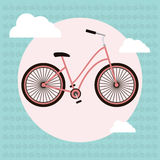Bicycle vector greeting card Royalty Free Stock Photography