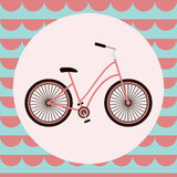 Bicycle vector greeting card Royalty Free Stock Image
