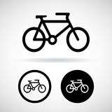 Bicycle vector and icon, Illustration EPS10 Stock Photos