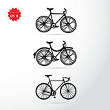 Bicycle vector icons set Royalty Free Stock Photos