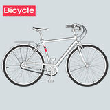 Bicycle in vector. Bicycle in vector, isolated and monochrome sketch Stock Photography