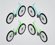 Bicycle Vector isometric illustration. Stock Photos