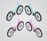 Bicycle Vector isometric illustration Royalty Free Stock Images