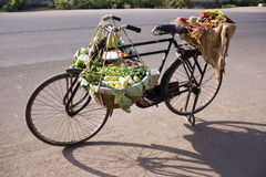 Bicycle & Vegetables Royalty Free Stock Photo