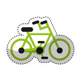 Bicycle vehicle sport icon Royalty Free Stock Image