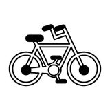 Bicycle vehicle sport icon Royalty Free Stock Images