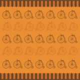Bicycle vintage pattern Stock Photography