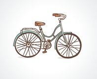 Bicycle. Vintage bicycle. Vector illustration Royalty Free Stock Photography