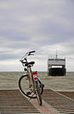Bicycle waiting for small ferry-boat Royalty Free Stock Photo