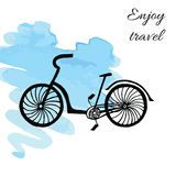 Bicycle on watercolor background Stock Image