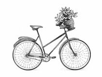 Bicycle Watercolor Royalty Free Stock Image