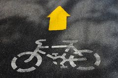 Bicycle way Stock Photos