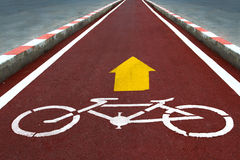 Bicycle way Royalty Free Stock Images