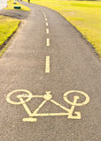 Bicycle way Stock Images