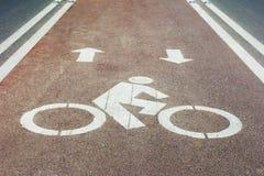 Bicycle way at road Royalty Free Stock Photography