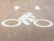 Bicycle way at road Royalty Free Stock Image