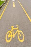 Bicycle way sign Stock Photos
