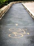 Bicycle way sign Royalty Free Stock Photo