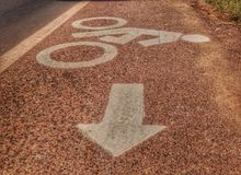Bicycle way Royalty Free Stock Photography