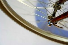 Bicycle wheel. Details of bicycle wheel in motion Royalty Free Stock Image