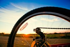 Bicycle wheel Stock Photo