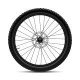 Bicycle wheel. Vector illustration on white stock illustration